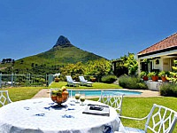 Atlantic Heights, Camps Bay - view of Lions head from garden