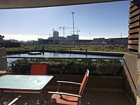 Canal Chic, V&A Waterfront - terrace to water view